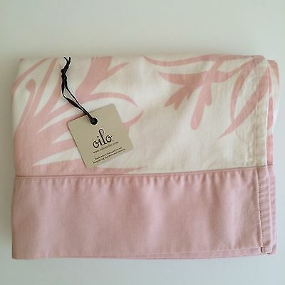 Oilo Crib Skirt Freesia Print Blush Pink White Baby Girl Nursery Bedding $125