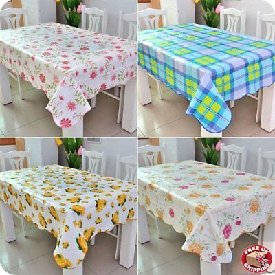 Flannel Back Table Cloth cover tablecloth tablecover waterproof wipe clean oblon