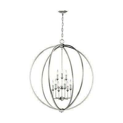 Feiss Corinne 9 Light Chandelier, Polished Nickel - F3058-9PN