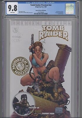 Tomb Raider Preview #nn  CGC 9.6 1999 Top Cow Gold Foil Edition: NEW Frame