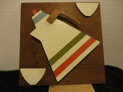 HOUSE OF RAN Su Place Setting Mid-Century Modern Wall Art Wood Cut 3 ...