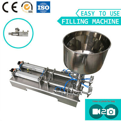 SMC Cylinder Two Heads Pneumatic Liquid Paste Filling Machine Filler
