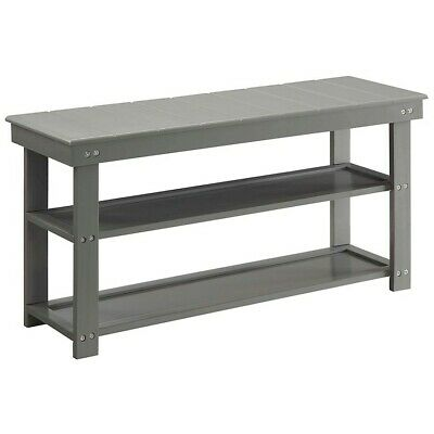 Convenience Concepts Oxford Utility Mudroom Bench, Gray - 203300GY