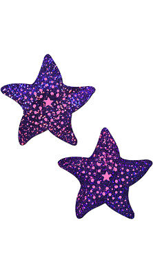 One Size Fits Most Womens Twinkling Purple And Pink Starfish Pasties