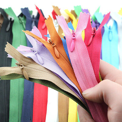 10Pcs/Set Nylon Coil Zips Invisible Zippers Tailor Sewer Sewing DIY Craft 11inch