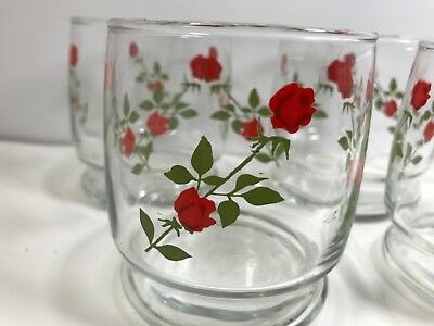 Set of FOUR Vintage FOUR ROSES WHISKEY Glasses EXC Cond