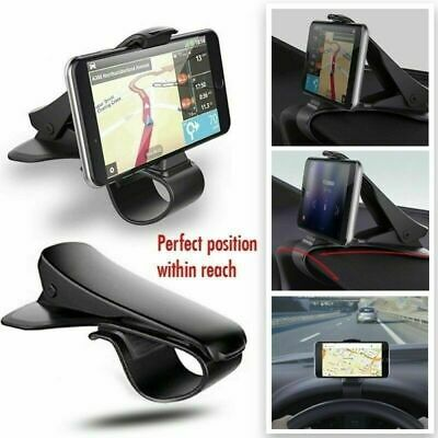 Black Car Cell Phone Dashboard Mount Holder Stand HUD Cradle For Smart Phone GPS