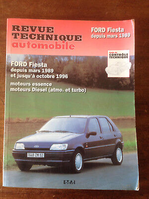 REVUE TECHNIQUE AUTOMOBILE FORD FIESTA 1989 - RTA - ESSENCE et DIESEL