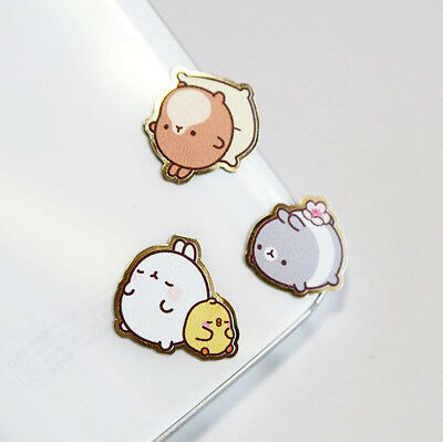 Molang Anti-Radiation Plate Sticker 3EA Ver.3 for Mobile Cellphone PC Monitor