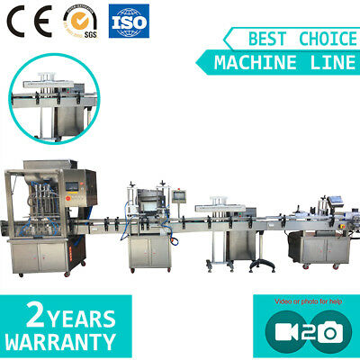Liquid Filling Capping Induction Sealing Labeling Machine Line
