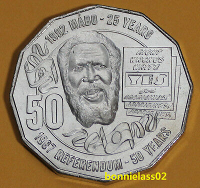 2017 Australian Eddie Mabo Pride and Passion 50 cent coin EX RAM Roll 123w