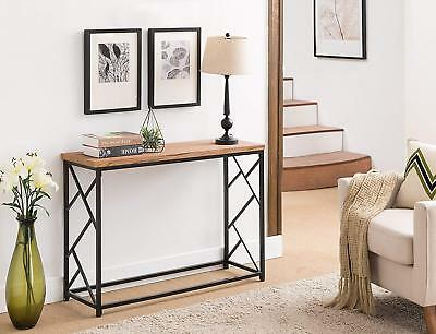 MODERN WOOD CONSOLE Table Entryway Furniture Bedroom Contemporary ...