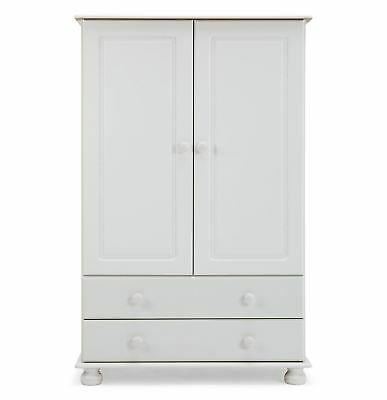 Copenhagen 2 Door 2 Drawer Combi Wardrobe in White