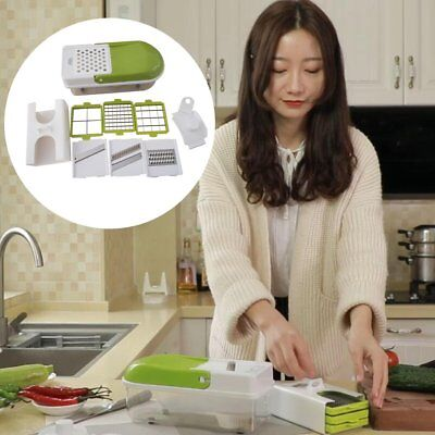 Multifunctional Vegetable Cutter Kitchen Vegetable Slicer Dicer Chopper@C