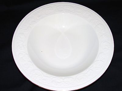 "2 Farberware Calais 9"" Rimmed Soup Cereal Pasta Bowls White Gold"