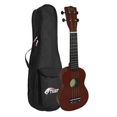 Childrens Natural Soprano Ukulele with Padded Carry Bag
