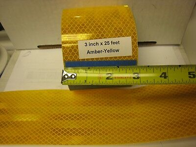 """AMBER  YELLOW GOLD Reflective  Conspicuity Tape 3"""" x 25 ft"""
