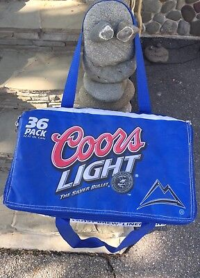 Coors Light Insulated Beer Cooler Bag With Zipper Holds 36 Pack Tailgate Camping