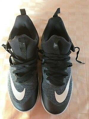 89d38bb2c4e Women s nike zoom shift black basketball shoes size 12 black grey 917731-001