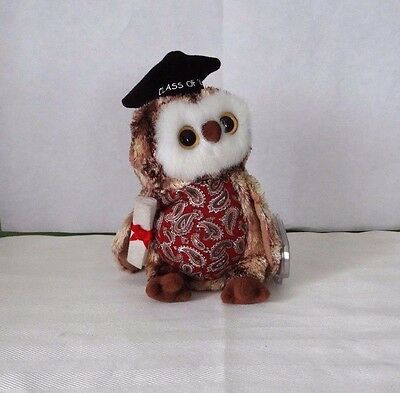 17afae3f4c4 TY SMARTY the GRADUATION 2005 OWL BEANIE BABY-Good condition-2004 on tag