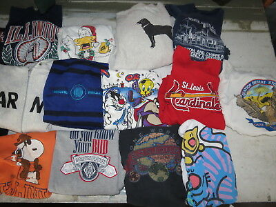 LOT OF 19 VINTAGE 80s SWEATSHIRTS NOVELTY VTG 90s USA DESTINATION TOONS RAGLAN