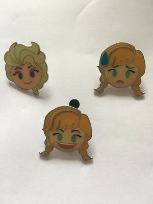 3 X FROZEN Disney Pins (#61). Ana And Elsa
