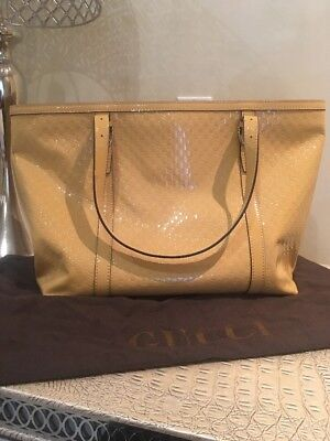 28f428855371 NEW $2050 GUCCI Nice Large Microguccissima Patent Leather Top Handle ...