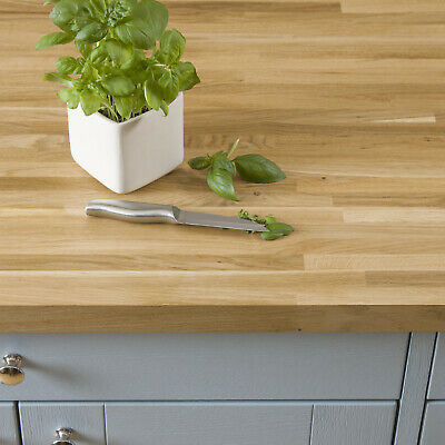 Thin Stave Wooden Worktops, Premium Oak Timber in a Variety of Sizes, A1 Grade