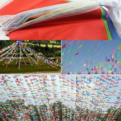 125 Feet Multi Colour Bunting Banner Flags Pennant Party Decoration Outdoor New