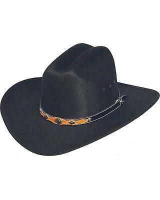WESTERN EXPRESS BLACK Cattleman Hat - Leather Band - Adult - 6 7 8 ... 591f75bc9e8f