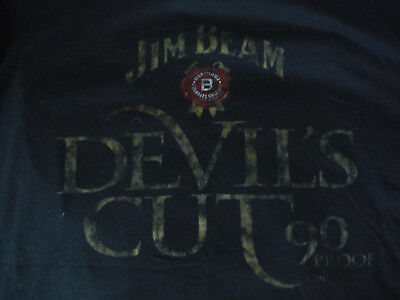 Jim Beam Bourbon Devil's Cut 90 Proof T-Shirt Size XL