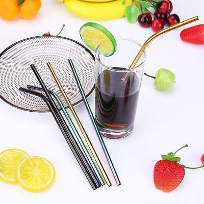 Reusable Stainless Steel Straws Extra Wide for Smoothie Milkshake Metal Drinking