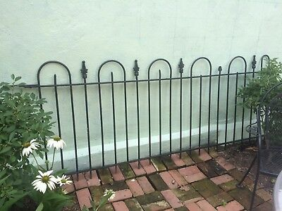 Antique Wrought Iron Fence Historical Capitol Hill Railing Two Sections