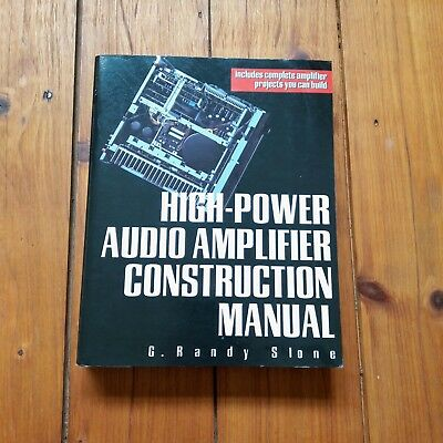 high power audio amplifier construction manual by g randy slone rh picclick co uk High Power Tube Amplifier high power audio amplifier construction manual
