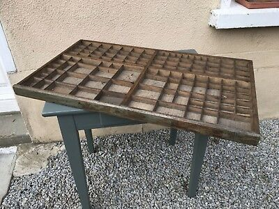 Large Vintage French Printers Tray Letterpress
