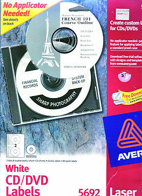 used avery cd dvd labels still in new condition in original