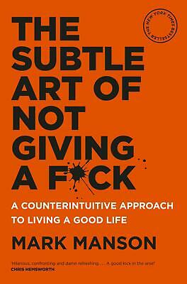 The Subtle Art of Not Giving a Fuck Fck F*ck Fk Hardcover Book by Mark Manson