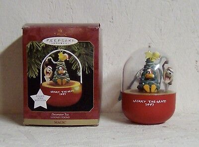"1997 Hallmark Ornament | ""LOONEY TUNES MERRY TAZ-MAS"" 