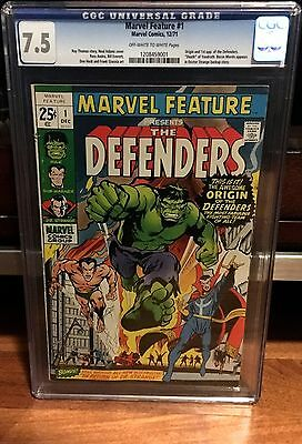 Marvel Comics Feature #1 The Defenders CGC 7.5 1st Appearance Key Issue Hulk