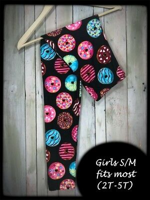 Glazed Donuts Toddlers Girls S/M (2T-5T) Kids Amazing Buttery Soft Leggings