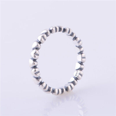 Authentic 925 Sterling Silver Forever Love Hearts Ring Jewelry Rings