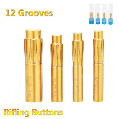 5.5mm-9.0mm Rifling Button 12 Grooves Hard Alloy Chamber Helical Reamer Tool
