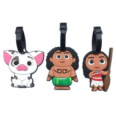 Adorable Princess Moana/Pig Luggage Tags Cute Holiday Suitcase Travel Label