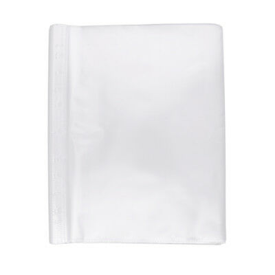 100 Sheets Clear Non Glare 11-Hole Loose Leaf Clear PVC Sheet Protectors