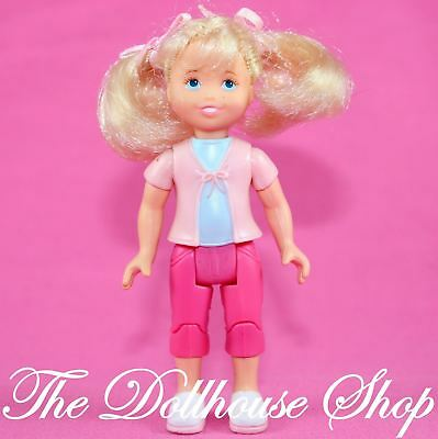 FISHER PRICE LOVING Family Dollhouse Blonde Girl Pink Pants Doll ...