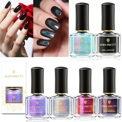 2 Bottles BORN PRETTY Holographic 3D Cat Eye Nail Polish Silver Pearl Varnish