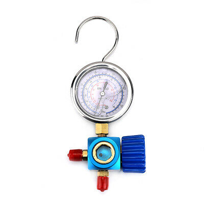 R410A R134A Air Conditioner Refrigerant Blue Low Pressure Gauge Oiling Accurate