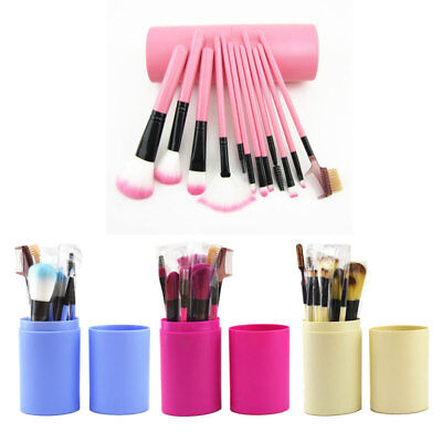 Professional 12/24 Pcs Kabuki Make Up Brush Set Eye Cosmetic Brushes Case Mall