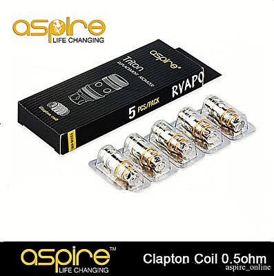 pack 5X  coils Aspire TRITON remplacement  0.3Ω