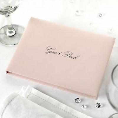 Blush Pink/Silver Wedding GUEST BOOK  With Gold Detailing Bridal Party